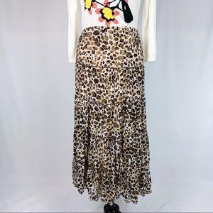Chico's NWT leopard stretch skirt